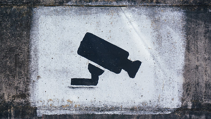 surveillance camera sign