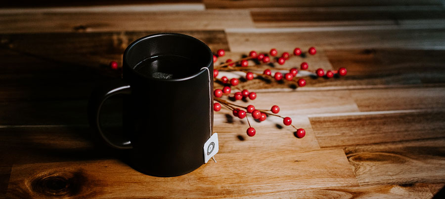 cup with berries