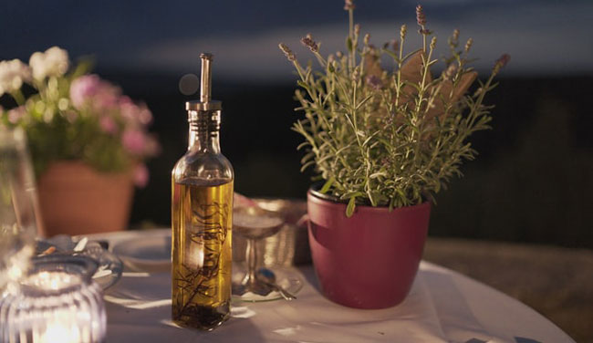 herbs and olive oil